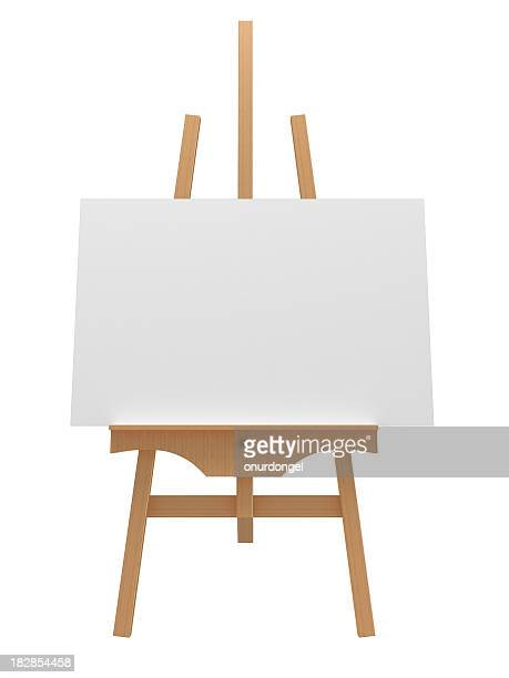 wooden easel - easel stock pictures, royalty-free photos & images