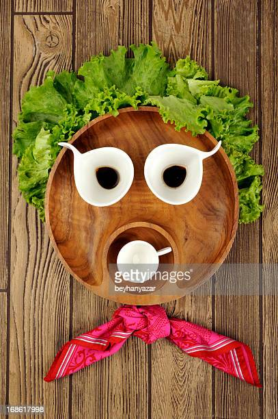 wooden entertaining face shape