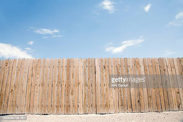 wooden fence and sky - carson california stock pictures, royalty-free photos & images