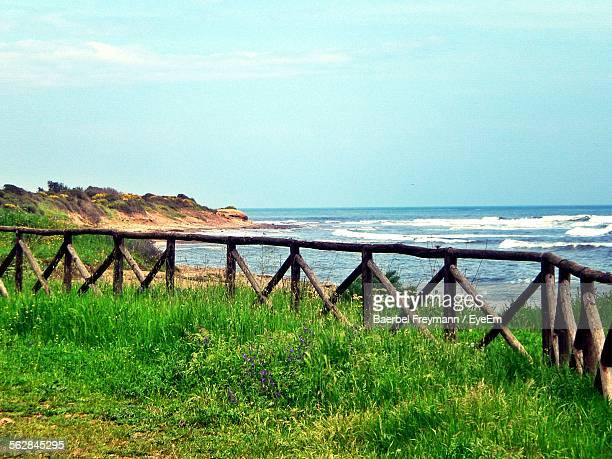 Wooden Fence At Seaside