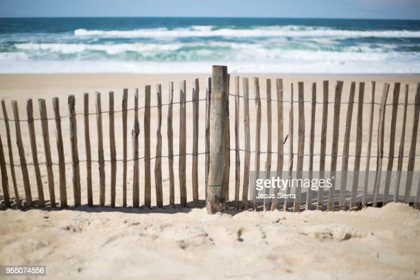 Wooden fence in beach. France