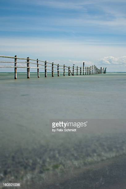 Wooden fence of national park
