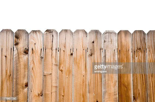 wooden fence - hek stockfoto's en -beelden