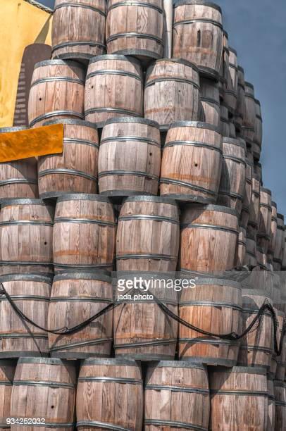 wooden fish barrels