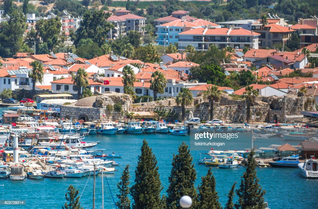 Wooden Fishing Boats At Coast Of Summmer Town Sigacik Urla Near Izmir Turkey High Res Stock Photo Getty Images