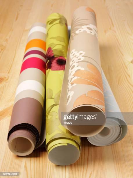 Wooden Floor and Wallpaper