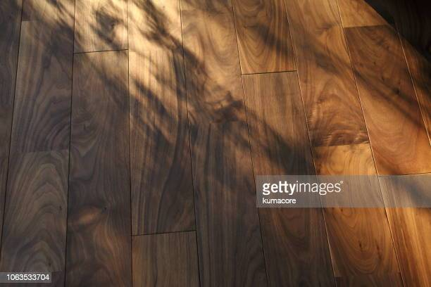 wooden floors with sunlight - brown ストックフォトと画像
