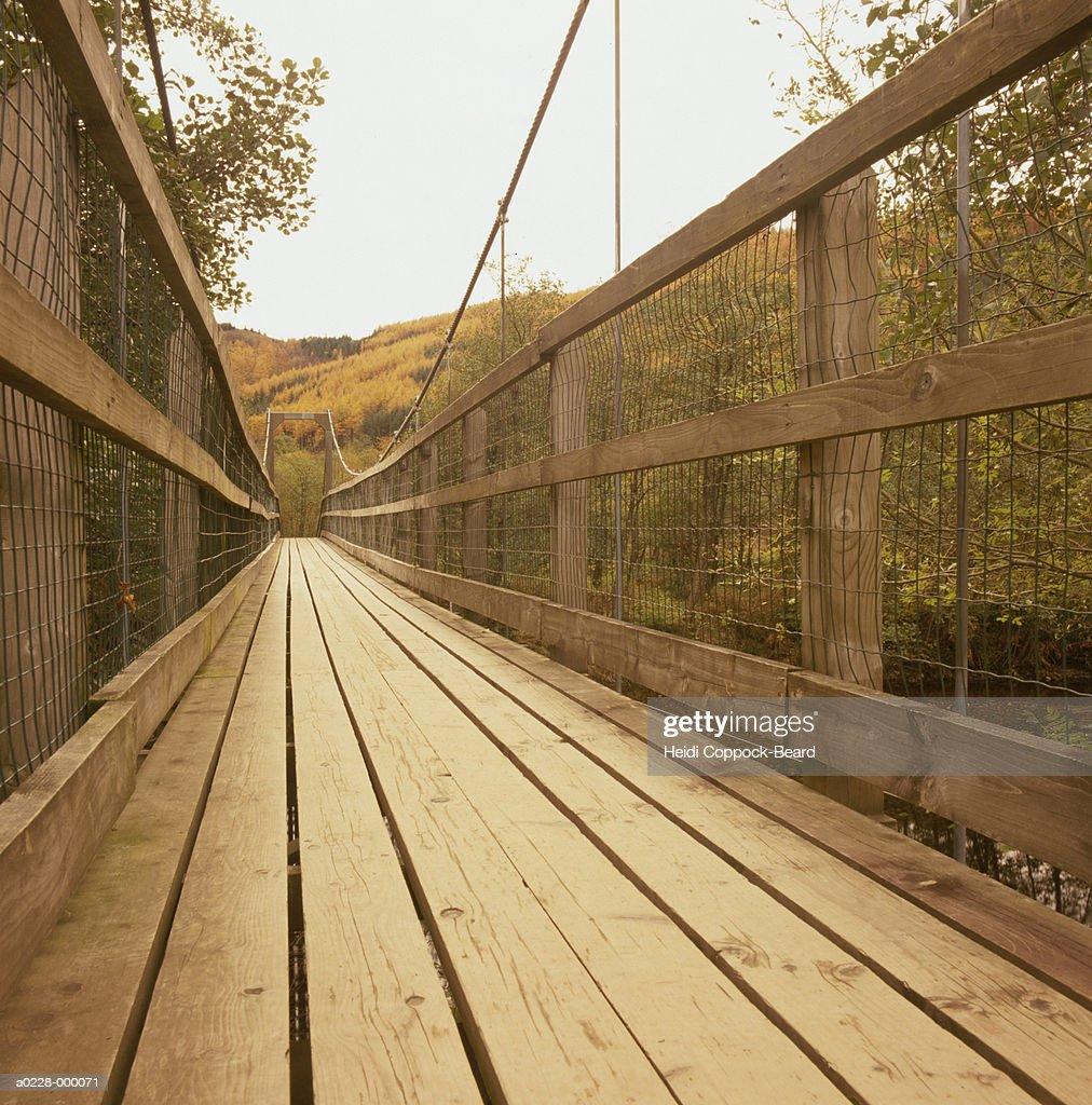 Wooden Footbridge : Stock Photo