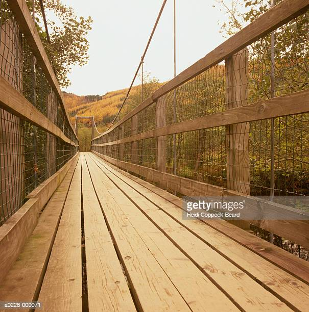 wooden footbridge - heidi coppock beard photos et images de collection