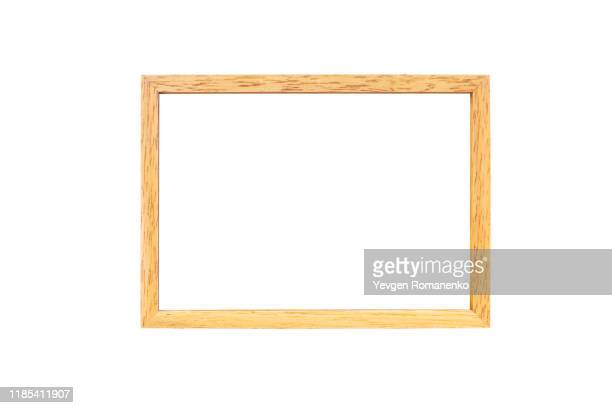 wooden frame for paintings or photographs - intelaiatura foto e immagini stock