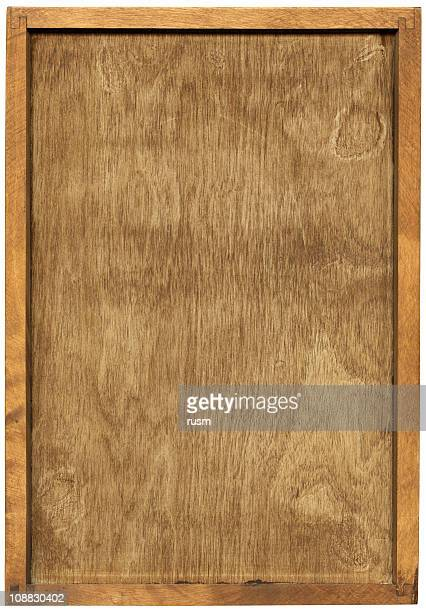Wooden frame isolated with clipping path on white background