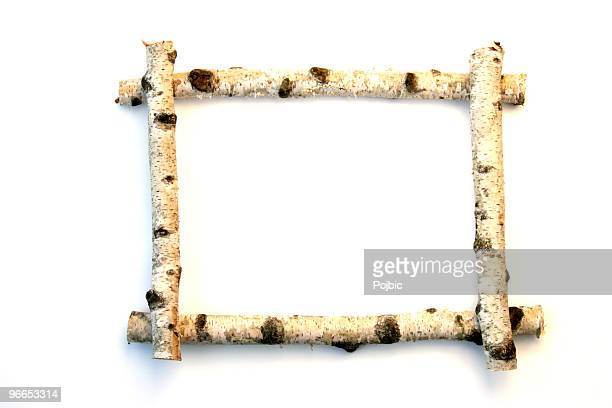 wooden frame - twig stock pictures, royalty-free photos & images