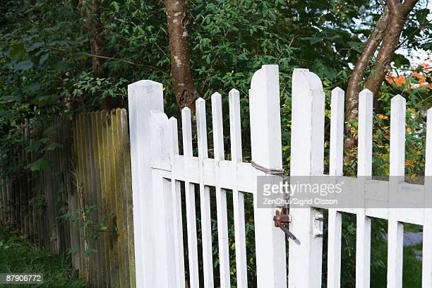 Wooden gate, close-up
