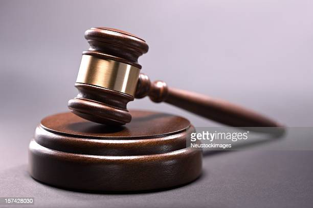 Wooden gavel on a background