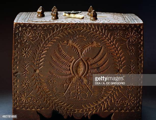 Wooden gift box TrentinoAlto Adige Italy 16th century Bolzano Museo Civico