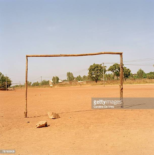 wooden goal post - goal post stock photos and pictures