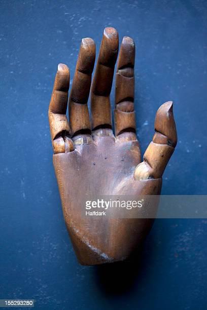 A wooden hand