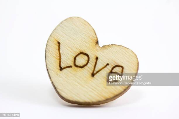Wooden Heart. Gift on Valentine's Day.