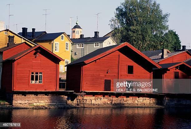 Wooden house along the river Porvoonjoki Porvoo Finland