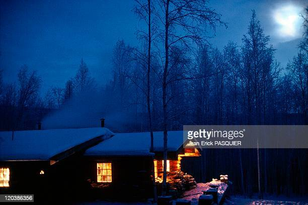 Wooden house in Alaska United States
