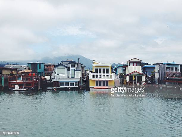 Wooden Houses At Lakeshore