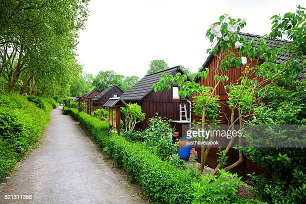 Holzhäuser der Zuteilung