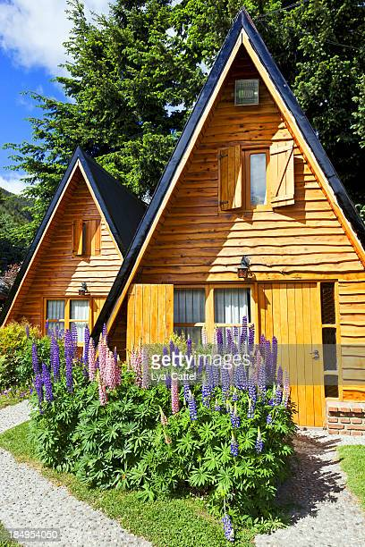 wooden houses - bariloche stock pictures, royalty-free photos & images