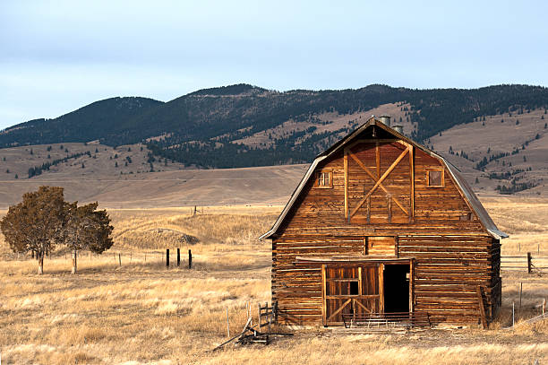 Wooden Hut In The Countryside Of  Missoula, Montana, USA Wall Art