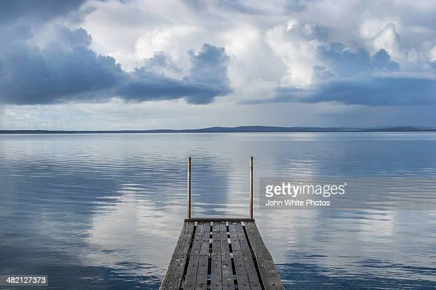 Wooden jetty. Calm ocean. South Australia