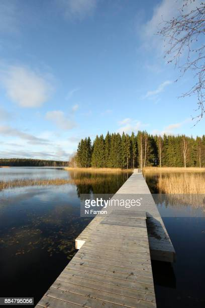 Wooden Jetty leading to private Island