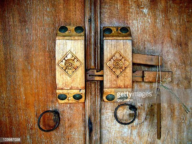 Wooden key locking system