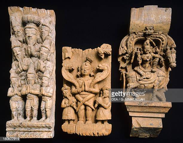 Wooden Limpets from a procession chariot from Tamil Nadu India Indian Civilisation 18th19th century