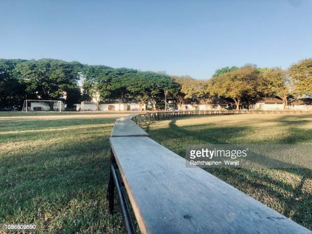 Awesome Worlds Best Long Wood Bench Stock Pictures Photos And Ibusinesslaw Wood Chair Design Ideas Ibusinesslaworg