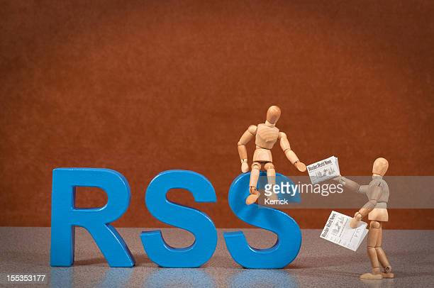 RSS - Wooden Mannequin demonstrating this word