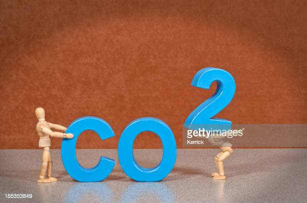 CO2- Wooden Mannequin demonstrating this word