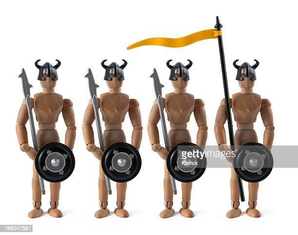 Hölzerne Kleiderpuppe fantasy army