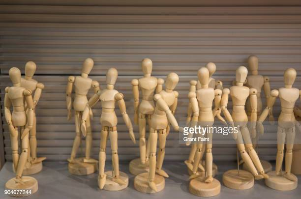 wooden mannequins for sale. - artist's model stock pictures, royalty-free photos & images