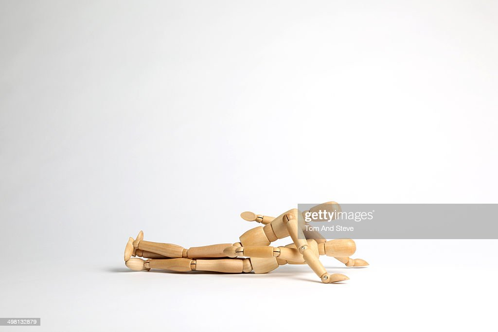 Wooden mannequins missionary position : Stock Photo