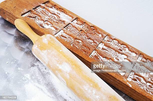 Wooden model for making Spekulatius (German Christmas shortcrust biscuits)