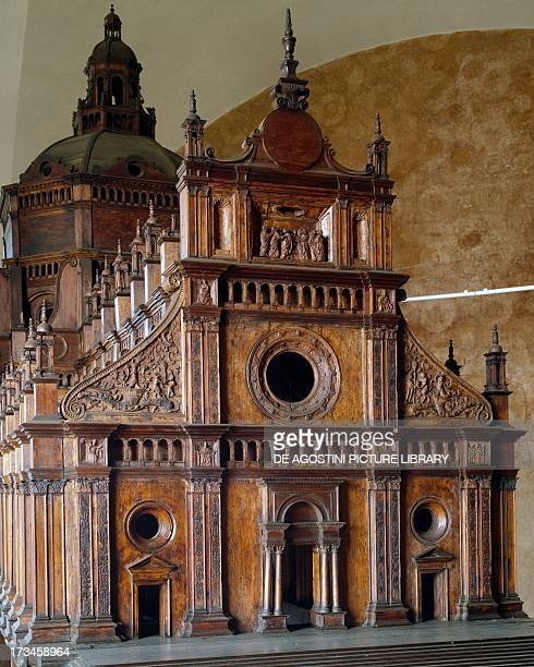 Wooden model of the Cathedral of Saint Stephen in Pavia by Gian Pietro Fugazza from a design by Giovanni Antonio Amadeo and Giovanni Giacomo...