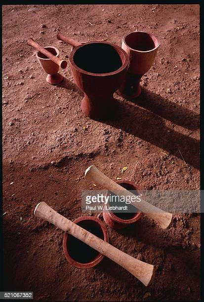 Wooden Mortars and Pestles