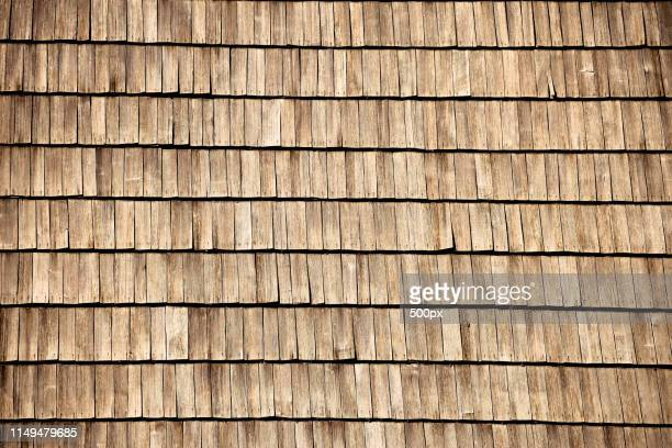 Wooden Old Roof Pattern View