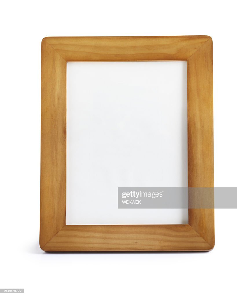 Wooden photo frame : Stock Photo