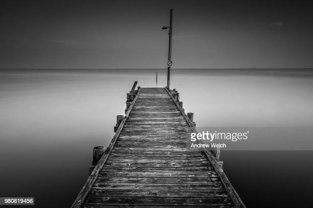 Wooden pier at Gulf of Mexico, Alabama, USA