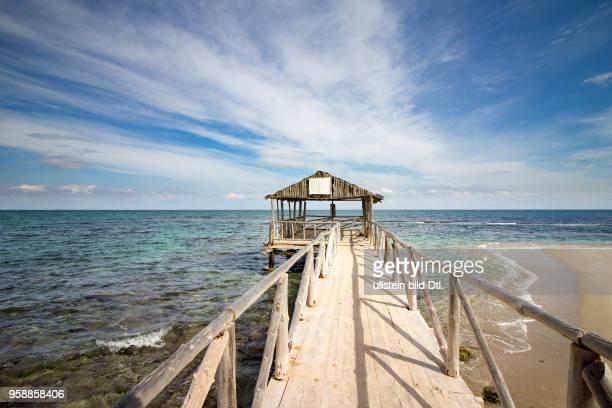 Wooden pier at the Mediterranean