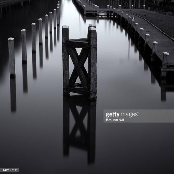 Wooden pier in morning