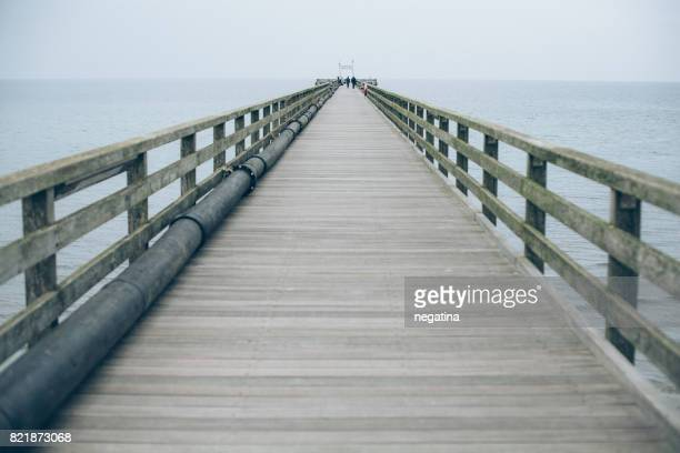 wooden pier on the Nothern Sea
