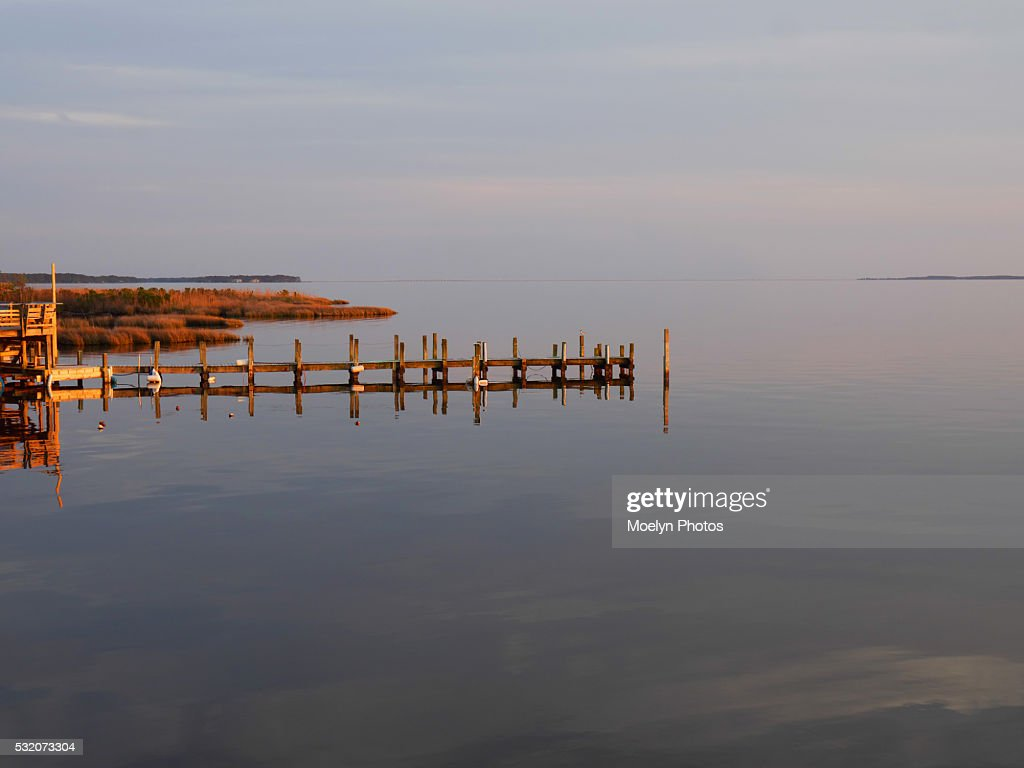 Wooden Pilings On Currituck Soundouter Banks Sunsetduck Nc High