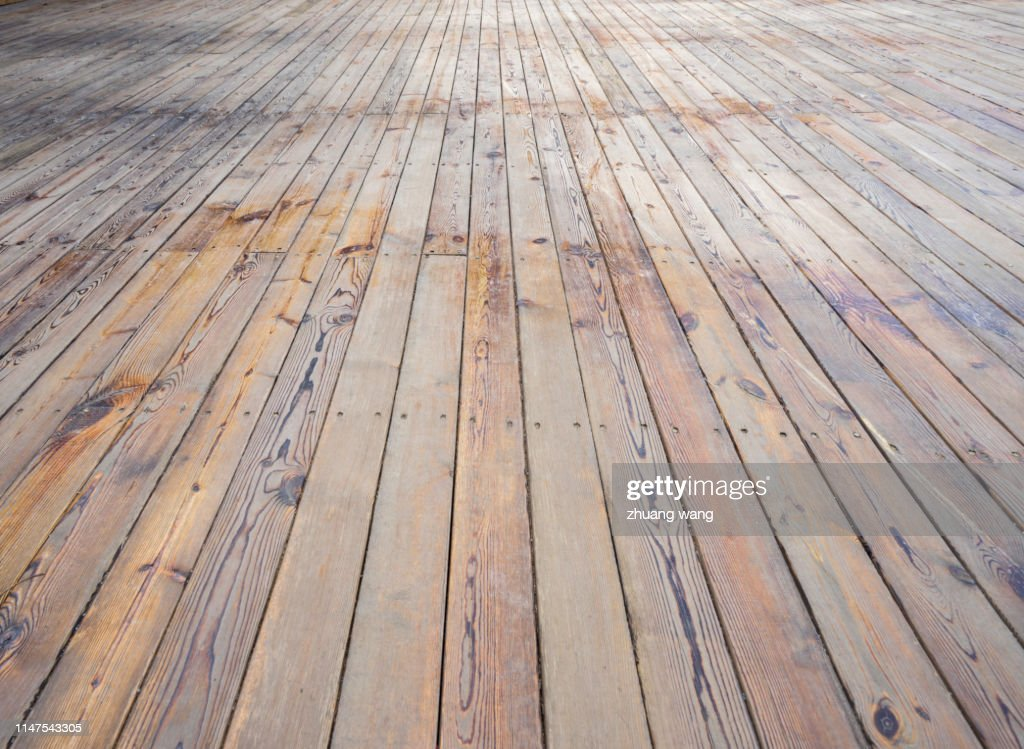 Wooden plank road : Stock Photo