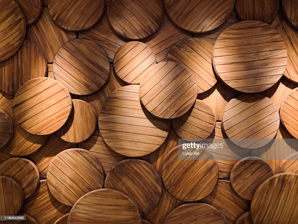 Wooden plate : Stock Photo